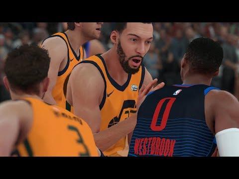 NBA Today 12/5/2017 - Oklahoma City Thunder vs Utah Jazz - Full Game (Thunder vs Jazz NBA 2K18)