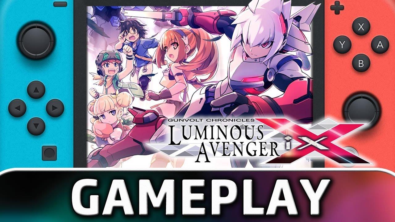 Gunvolt Chronicles: Luminous Avenger iX | First 10 Minutes on Nintendo Switch