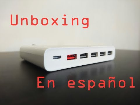 XIAOMI CARGADOR USB MULTIPUERTO 1 X USB-C- 5 X USB-A 60W QC3.0 (Unboxing En Español)
