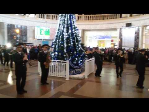 Новогодний флешмоб в Одессе - ЖД вокзал