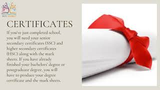 List of Documents to Study Abroad || ACV Global Consultants || Overseas Education Consultants