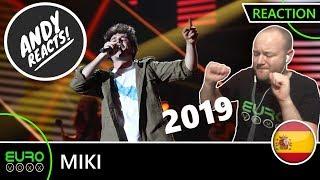 SPAIN EUROVISION 2019 REACTION: Miki - 'La Venda' | ANDY REACTS!