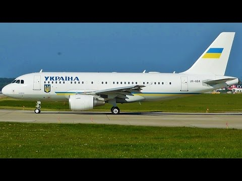 [FullHD] Ukrainian Government Airbus A319CJ takeoff at Geneva/GVA/LSGG