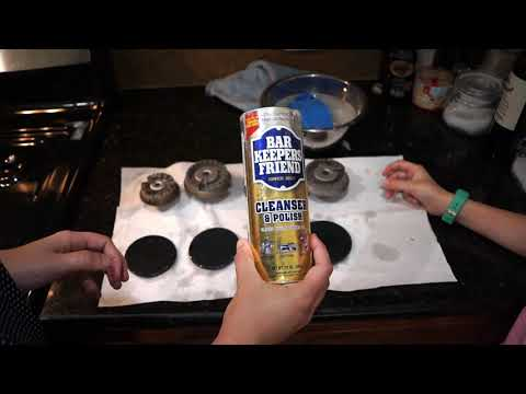 How to Clean Gas Stove Top, Burners, and Grates with the BEST Cleaner!