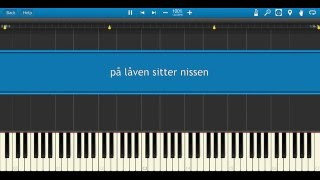 På låven sitter nissen (piano/synthesia)