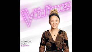 Addison Agen - Lucky - Studio Version - The Voice 13