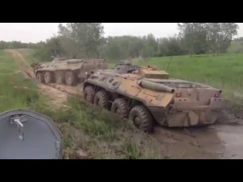 Russian BTR-80 stuck