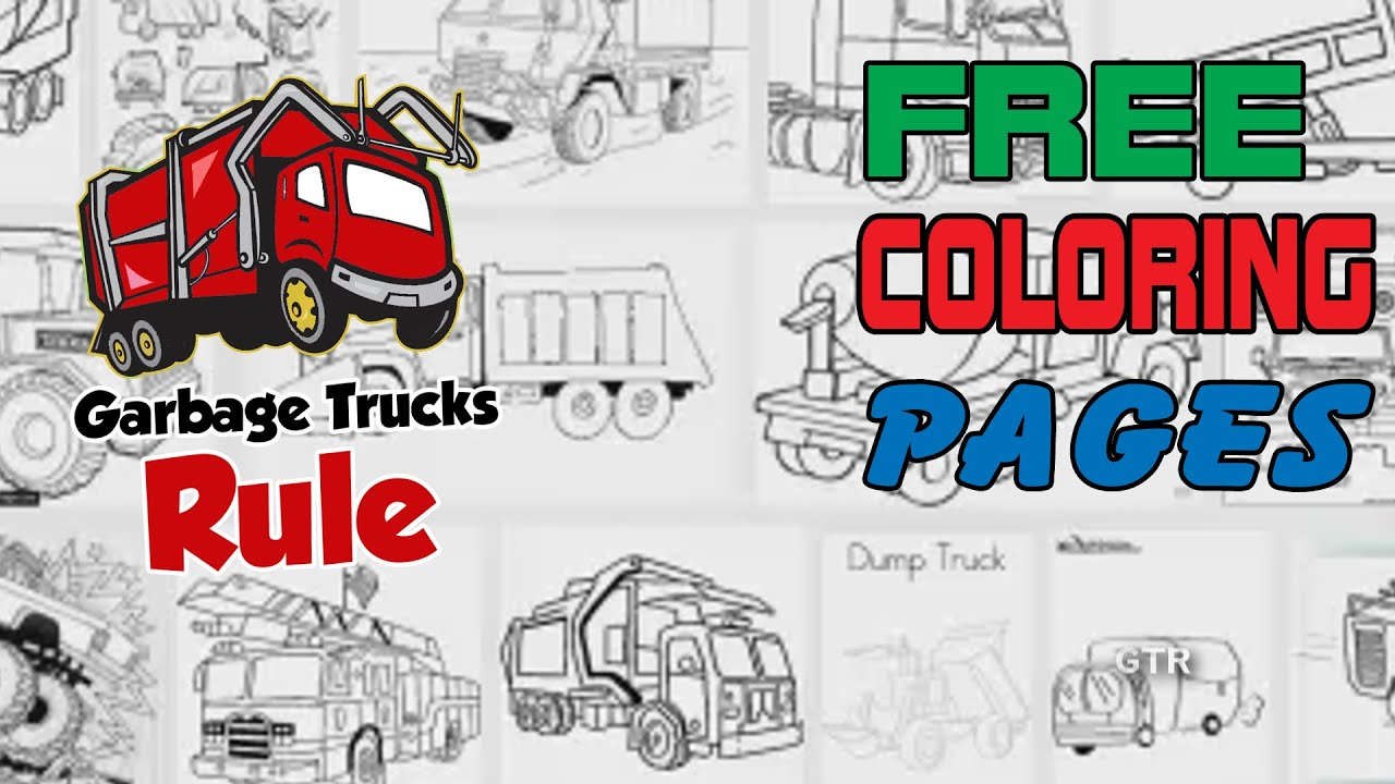 Garbage truck coloring book pages - Free Garbage Truck Coloring Pages Here S Where To Get Them