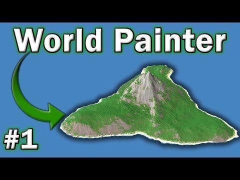 🗺️ World Painter Tutorial - #1 -  How To Make Custom Maps In Minecraft