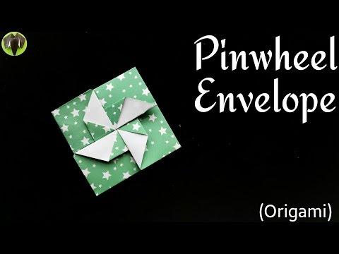 Pinwheel Envelope Letter - DIY Tutorial by Paper Folds ❤️