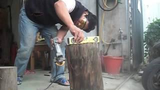 原木椅製作(2)