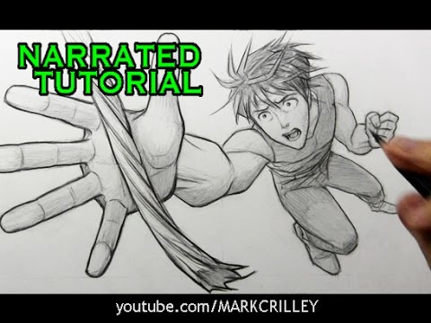How To Draw Action Poses Foreshortening Hd
