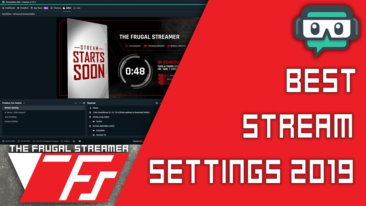 Streamlabs OBS Tutorial: Best SLOBS Stream Settings 2019 (And I Teach You  Why)