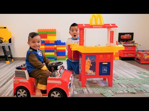 Paw Patrol McDonalds Drive Thru Prank Pretend Play With CKN Toys