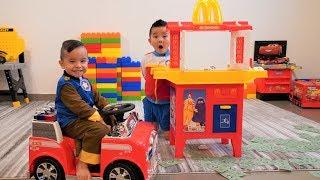 Paw Patrol McDonalds Drive Thru Prank Pretend Play With CKN Toys