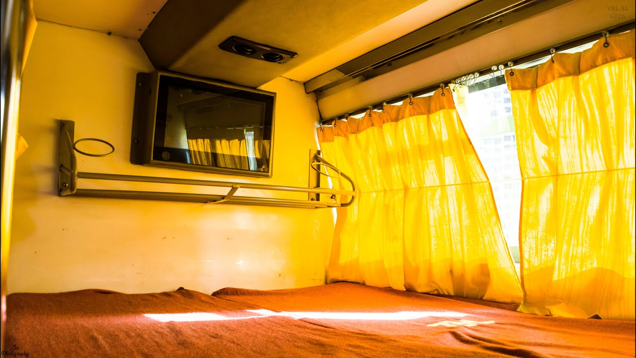 Interiors of Ashok Leyland AC Sleeper Bus of VRL Travels ...