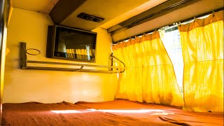 Interiors of Ashok Leyland AC Sleeper Bus of VRL Travels!