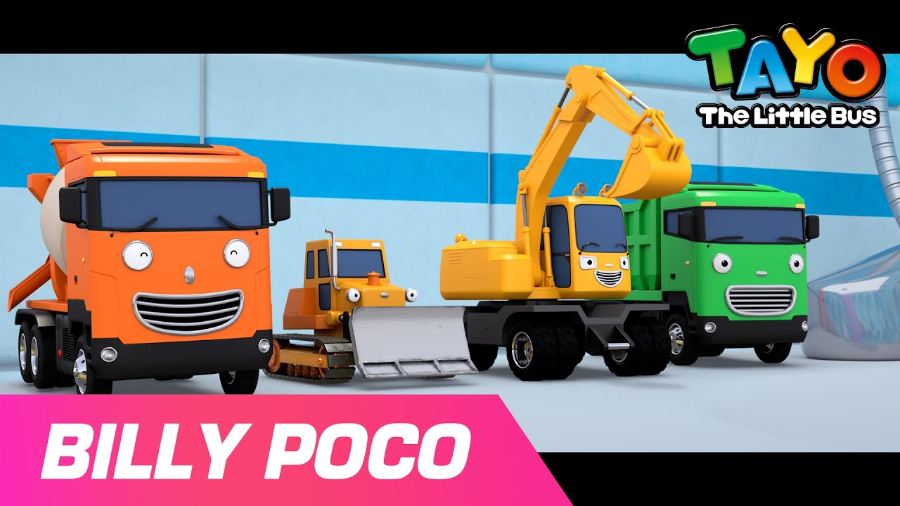 BILLY POCO l Sports day of strong heavy vehicles l Car Song l Tayo the Little Bus