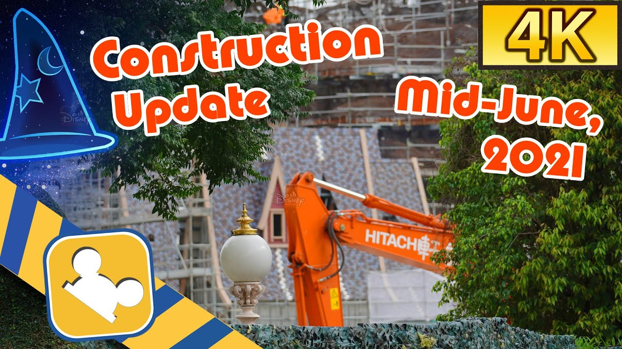 "[4K Hong Kong Disneyland] ""Arendelle: World of Frozen"" Construction Update | (Mid-June, 2021)"