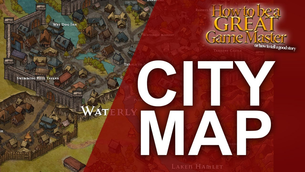 How to Create a Fantasy City Map - Game Master Tips - How to be a Great  Game Master