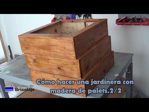 C mo hacer una jardinera con madera de palets 2 2 youtube for Como hacer una valla con palets