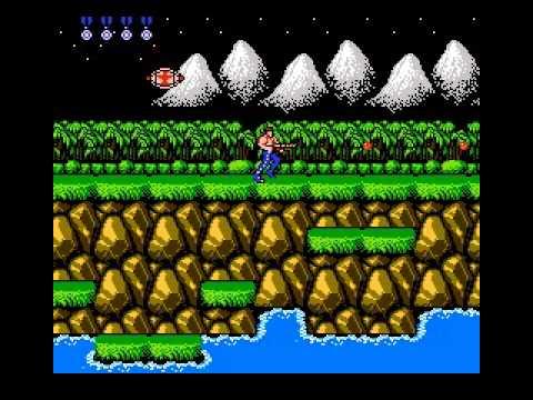Contra  (NES) я ввёл  код на  30 жизней