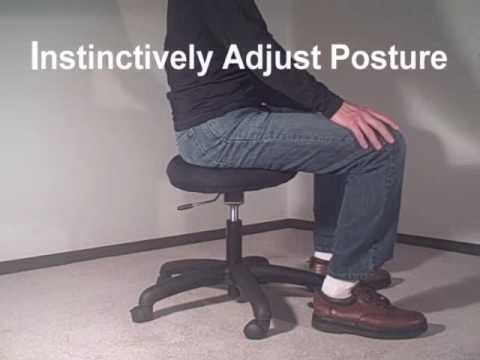 posture chair demo bouncy for adults active balance seat youtube