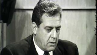 Raymond Burr interview 1963