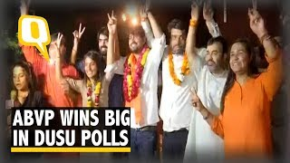 DUSU Polls: ABVP Wins Both President and VP, NSUI Gets Secretary | The Quint