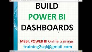 كيفية بناء Power BI لوحة | لوحات في السلطة BI