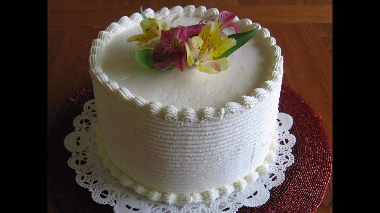 Cake With Cream Frosting : Fresh Whip Cream for Cakes, Cupcakes and Pastries - YouTube