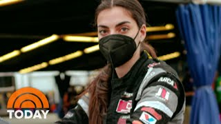 Toni Breidinger Makes History As NASCAR's First Arab-American Female Driver | TODAY
