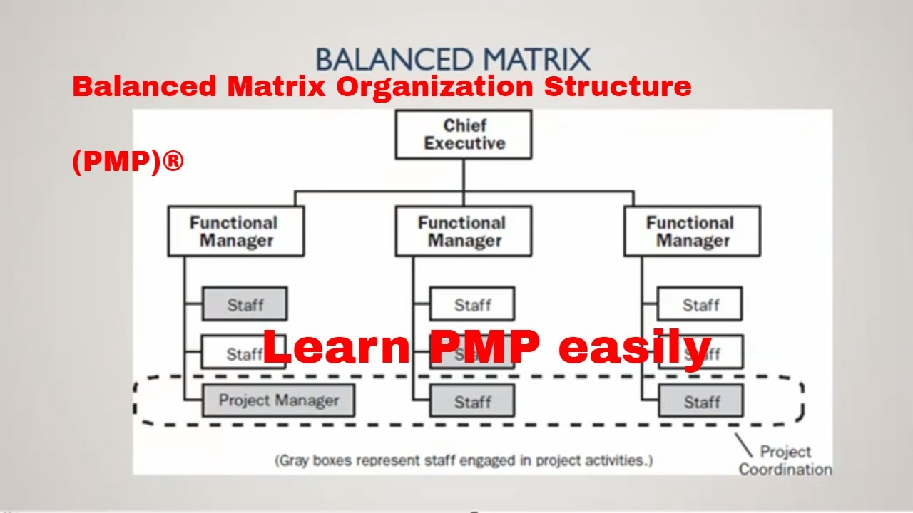 (PMP)® What is balanced matrix organization   Urdu. This video explains the balanced Matrix Concepts of project management This is part of Master Project management series. Like, subscribe, and share our video.... Youtube video for project managers.