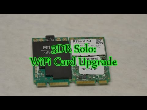 3DR Solo Wifi Card Upgrade for Range Increase