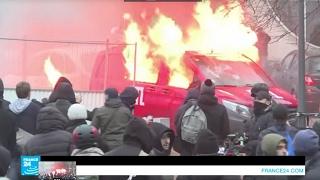 أعمال شغب على هامش مظاهرة شمال باريس للتنديد باغتصاب شرطي لشاب أسود