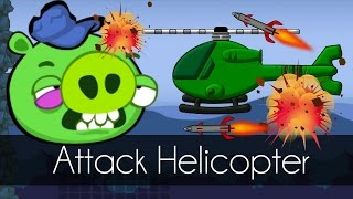 Bad Piggies - ATTACK HELICOPTER (Field of Dreams) - Helicopter Army