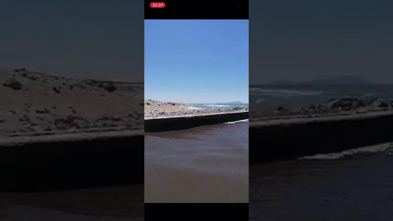 mare nera dentro castel volturno - YouTube