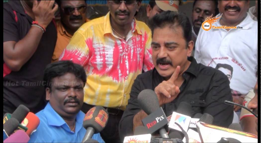 Actor Kamalhassan Anger About Rajini   Neglects Question About Superstar