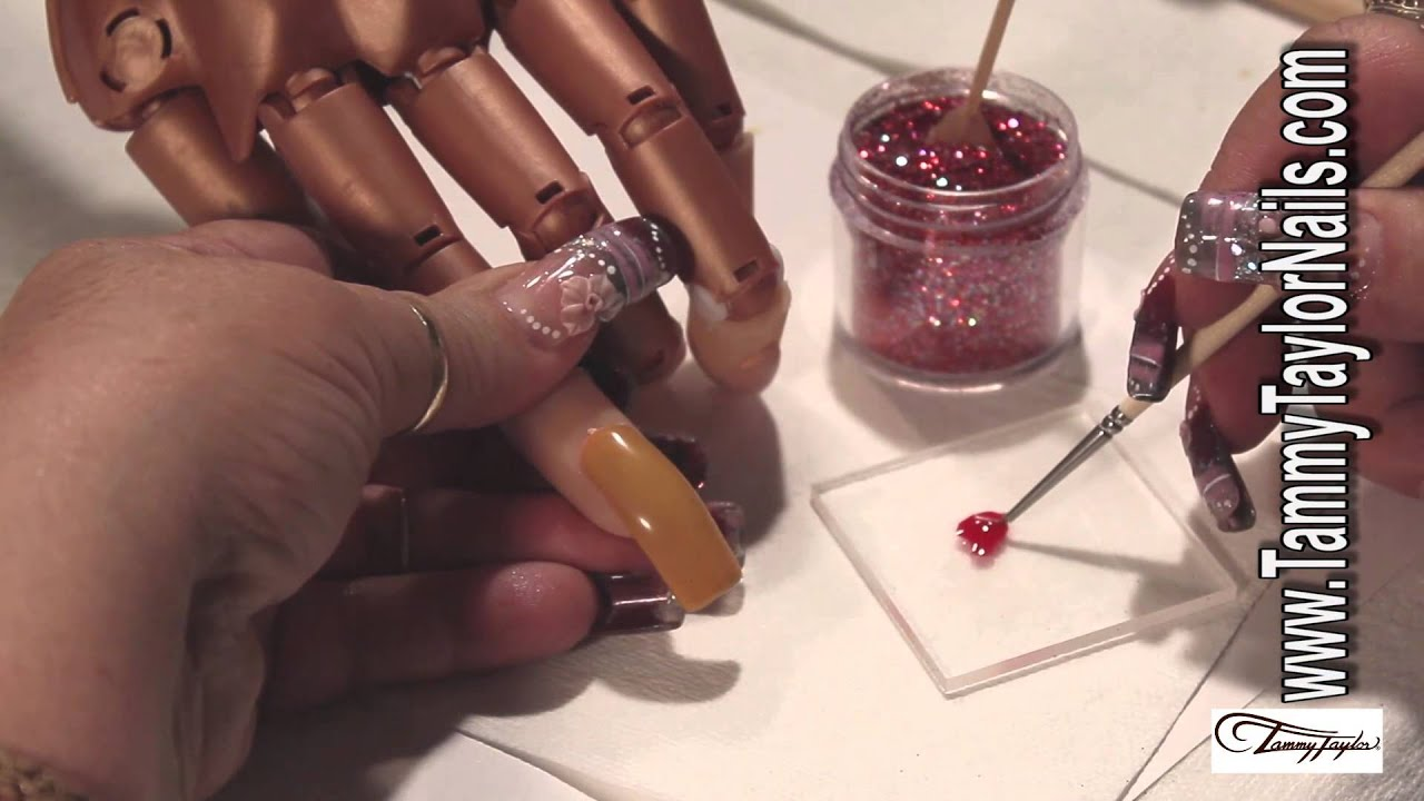 How To: Christmas Ornament Nail Art - YouTube