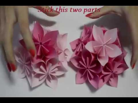 How To Make An Origami Flower Ball Wedding Party Decorations Kusudama DIY Crafts Tutorials