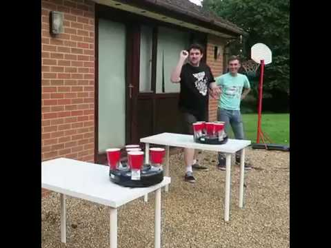 roomba beer pong looks like so much fun youtube