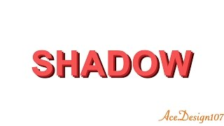 Text Tutorial | Text Shadow effect | Photoshop CC