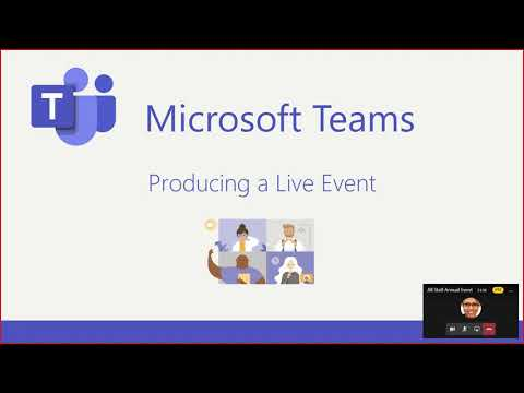 Producing and Presenting in Teams Live Events