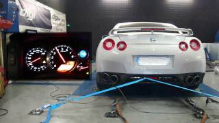 Reprogrammation moteur Nissan GTR 35 480cv @ 630cv STAGE 2+ dyno digiservices