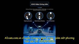 Camera hành trình 8Inch Gương 3 CamTrước/Trongxe/ Sau 4G Android 8.1, ADAS