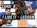How to play I like it on guitar by Cardi B