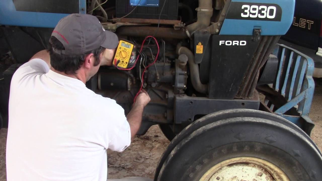 tractor wiring diagram alternator window diagrams ford new holland electric fuel shutoff - youtube