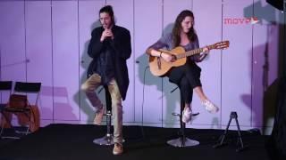 Salvador Sobral (voz) e Luísa Sobral (guitarra) interpretam