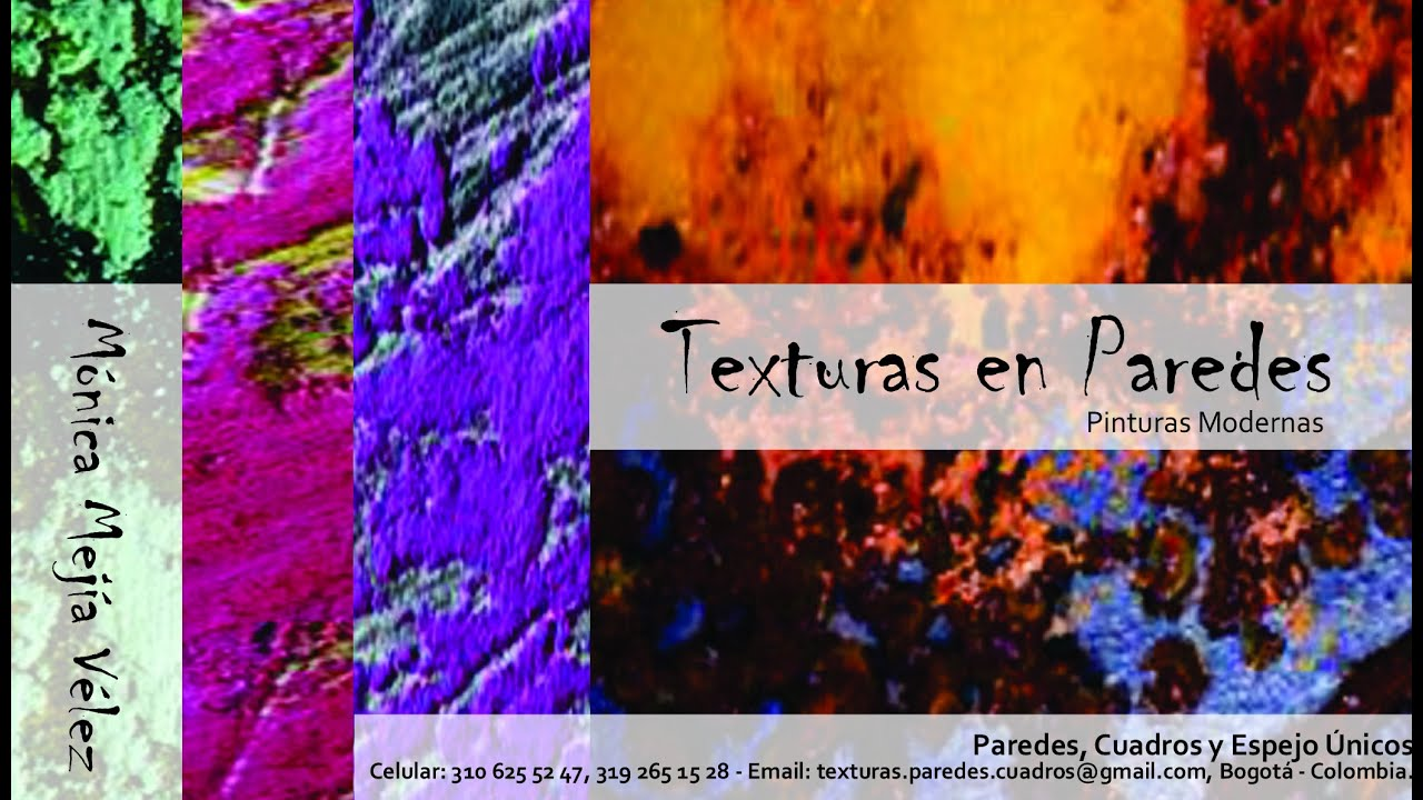 Texturas de paredes por monica mejia velez youtube - Decoraciones de paredes ...