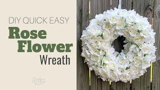 DIY Quick Easy Rose Flower Wreath   Memorial Wreath   Wedding Wreath